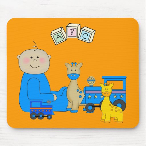 Placemat For Baby Boys, Baby And Toys 3 Mouse Mat