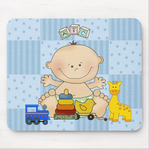 Placemat For Baby Boys, Baby And Toys Mouse Mat