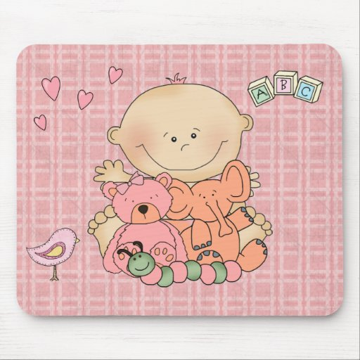 Placemat For Baby Girl, Baby And Toys 2 Mouse Pads