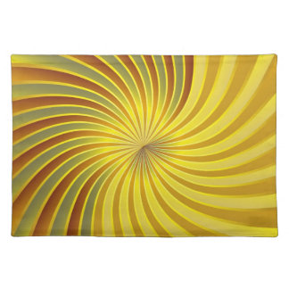 Placemat gold spiral vortex