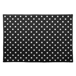 Placemat Hot Black Polka Dot