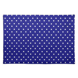 Placemat Hot Blue Polka Dot