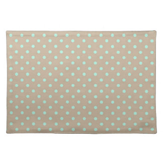 Placemat Hot Green and Beige Polka Dot