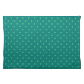 Placemat Hot Green Polka Dot