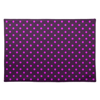 Placemat Hot Pink and Violet Polka Dot