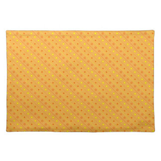 Placemat Hot Yellow and Orange Polka Dot