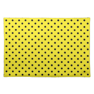 Placemat Hot Yellow Polka Dot