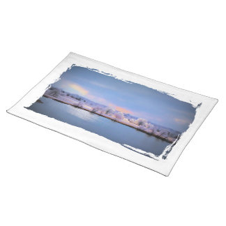 Placemat, Icy Pond and Willows in Pastel Colors Placemat