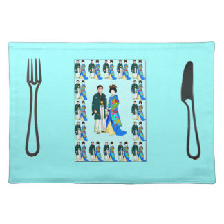 Placemat - Japanese couple