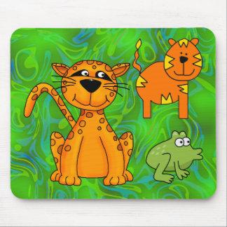 Placemat Kids Cheetah Tiger Frog Mouse Pad