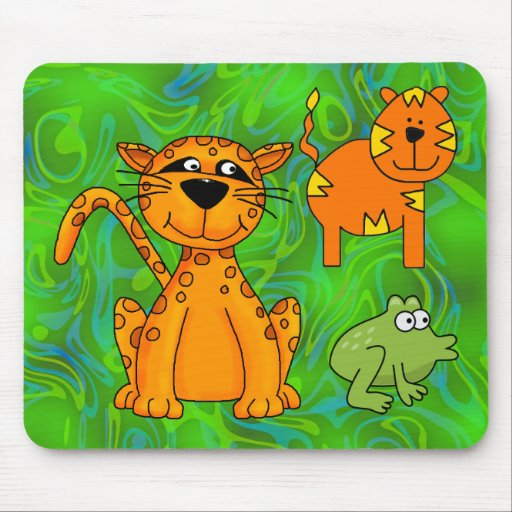 Placemat Kids Cheetah Tiger Frog Mousepads