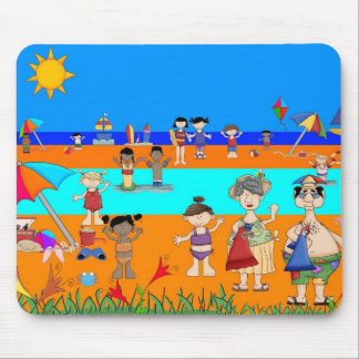 Placemat Kid's Day At The Beach and Mousepad
