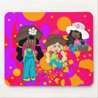 Placemat Kids Girl Abstract Picnic Girls Mouse Pad