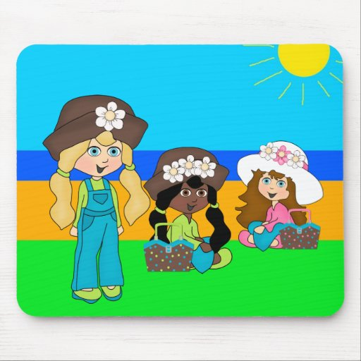 Placemat Kids Girl Picnic Girls Mouse Pads