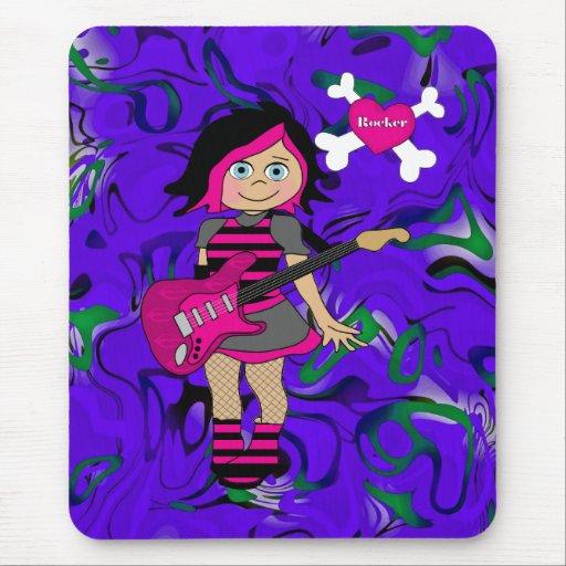 Placemat Kids Girl Rocker Girl Mouse Pad