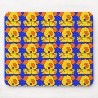 Placemat Kid's Puppy Dogs Yellow Blue Mousepad 2 Mouse Pads