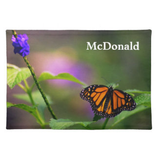 Placemat - Monarch Butterfly in flower setting