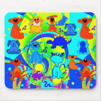 Placemat Mousepad Boys Kid s Animals Collage 3 Mousepads