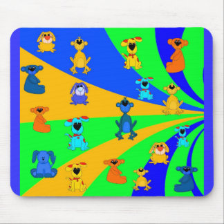 Placemat Mousepad Kid s Boys Animals Collage Mouse Pad