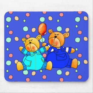 Placemat Mousepad Kids Balloon Blue Bears 2 Mousepad