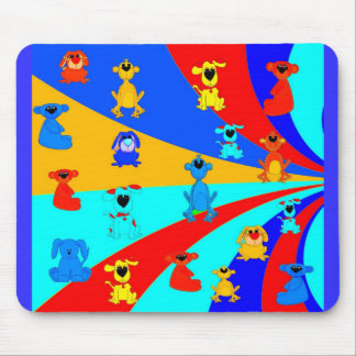 Placemat Mousepad Kid's Boys Animals Collage 2 Mouse Pad