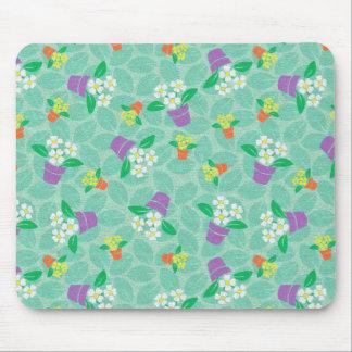 Placemat Mousepad Kid's Girls Little Flower Pots Mouse Pad