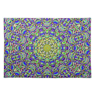 Placemat - multi-coloured mosaic-kaleidoscope