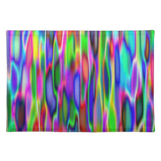Placemat - Multi-coloured vertical wavy stripes