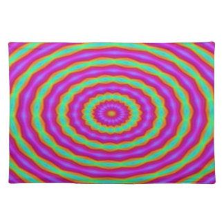 Placemat - Pink Green Kaleidoscope.