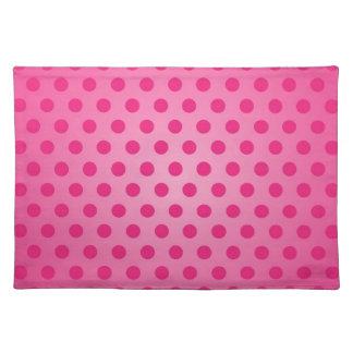 Placemat Pink Polka Dot