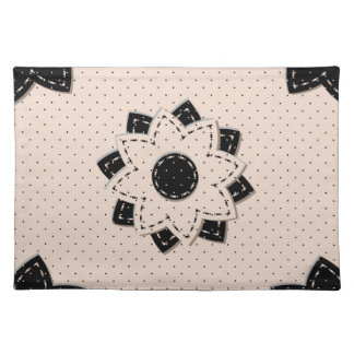 Placemat Polka Dot and Flowers