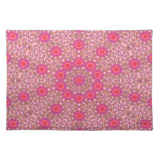 Placemat - red pink dots / mosaic effect