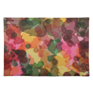 Placemat, Spring Flowers, Watercolor Abstract Place Mat