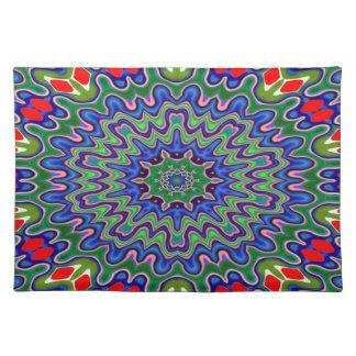 Placemat - wavy curlicue kaleidoscope