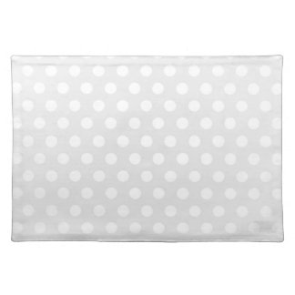 Placemat White Polka Dot