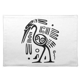Placemat With Mayan Bird Design