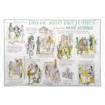 Placemat with Scenes from Pride and Prejudice Cloth Placemat