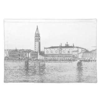 Placemat with Venice view