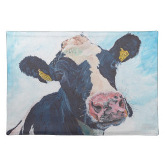"""Placemats 20"""" x 14"""" - 0254 Irish Friesian Cow"""