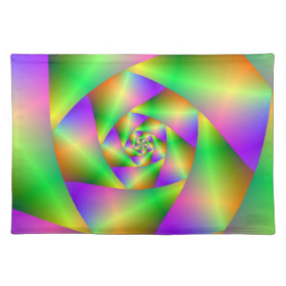 Placemats  Psychedelic Spiral