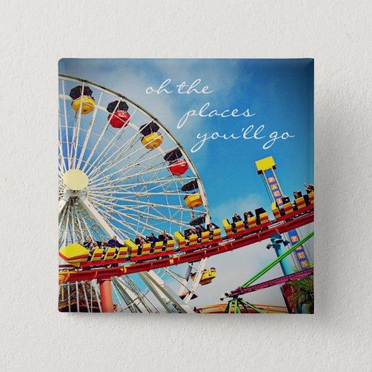 """Places"" ferris wheel roller coaster photo button"