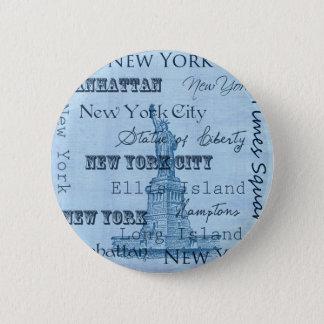 Places New York 6 Cm Round Badge