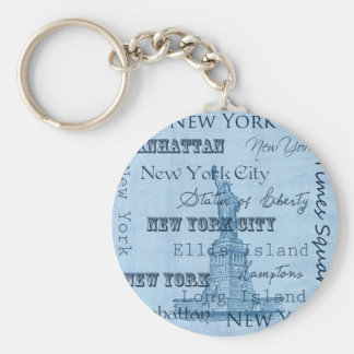 Places New York Key Ring