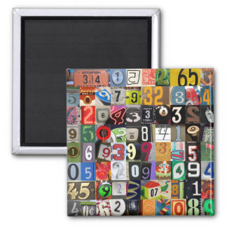 Places of Pi Square Magnet