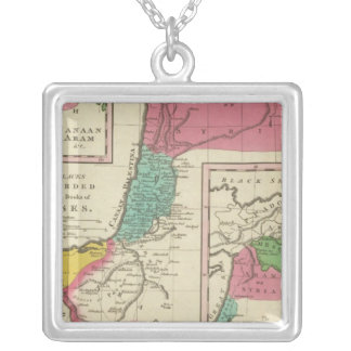 Places Recorded in the Five Books of Moses Silver Plated Necklace
