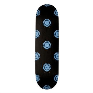 Placid Blue Flower Pattern 4 Skate Board Deck
