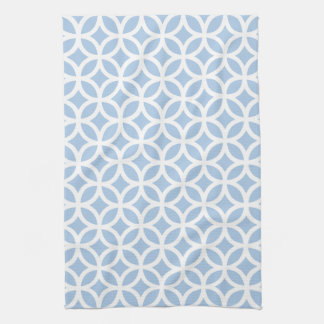 Placid Blue Geometric Kitchen Towel