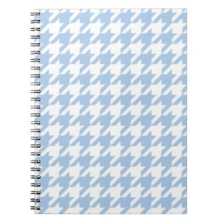 Placid Blue Houndstooth Spiral Notebook