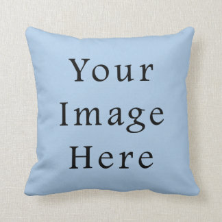 Placid Light Blue Color Trend Blank Template Pillow