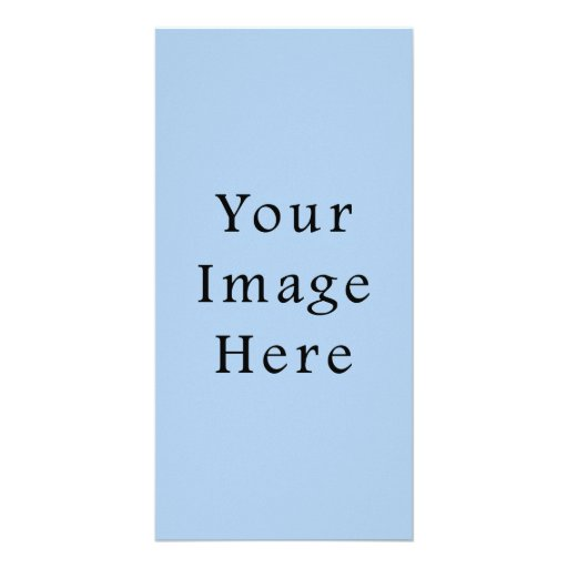 Placid Light Blue Color Trend Blank Template Photo Cards